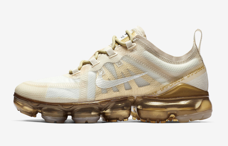 Womens Nike Air VaporMax 2019 White Metallic Gold AR6632-101 Release Date