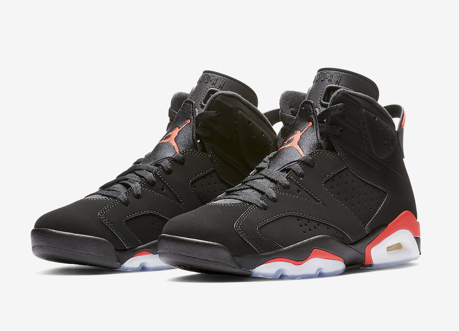 timeless design ba5c4 d2479 Air Jordan 6 Black Infrared 2019 Retro 384664-060 Release Date Price