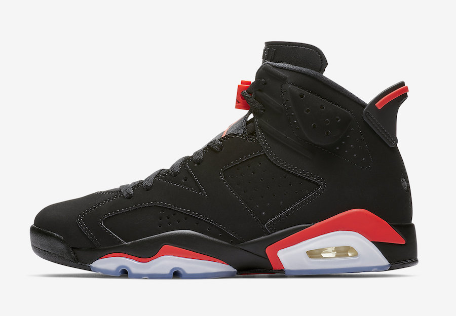 Air Jordan 6 Black Infrared 2019 Retro 384664-060 Release Date Price