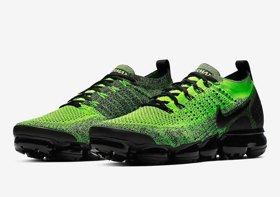 best website a89e4 1ee4c Nike Air VaporMax 2 Neon Green Black 942842-701 Release Date ...