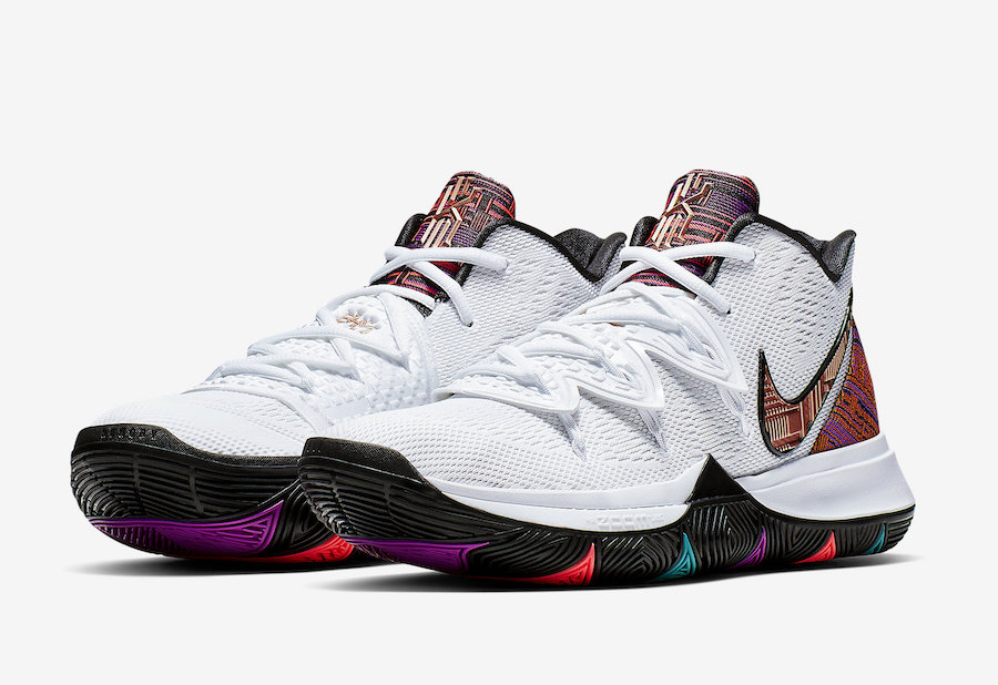 0555f29913f5 Nike Kyrie 5 BHM Black History Month BQ6237-100 Release Date - SBD