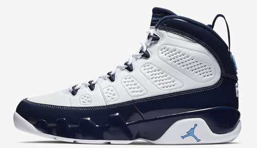 9a38ebe23caca Air Jordan 9. Color  White University Blue-Midnight Navy Style Code   302370-145. Release Date  February 9
