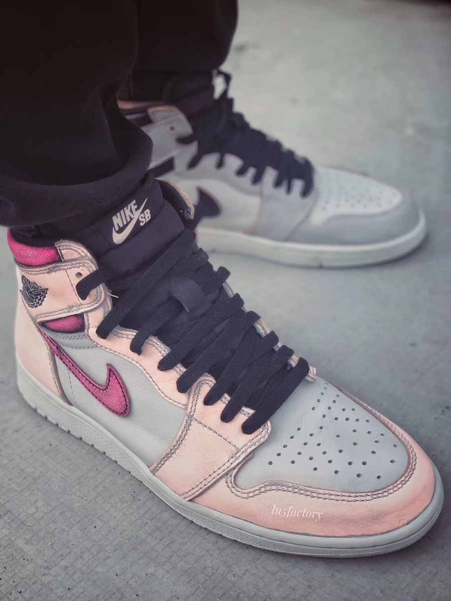 Air Jordan 1 Light Bone Crimson Tint Hyper Pink CD6578-006 Release Date