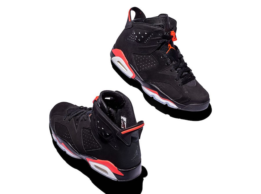 Air Jordan 6 Infrared Comparison 1991, 2000, 2010, 2014