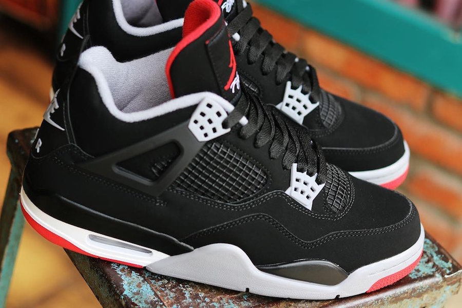 finest selection 4f7e2 c8948 Nike Air Jordan 4 Bred 2019 Retro Release Date