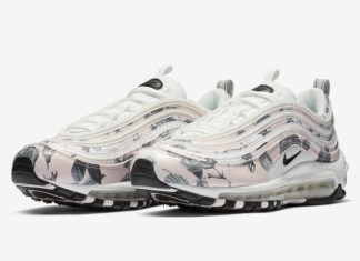 Nike Air Max 97 Pale Pink Black White Floral BV6119-600 Release Date