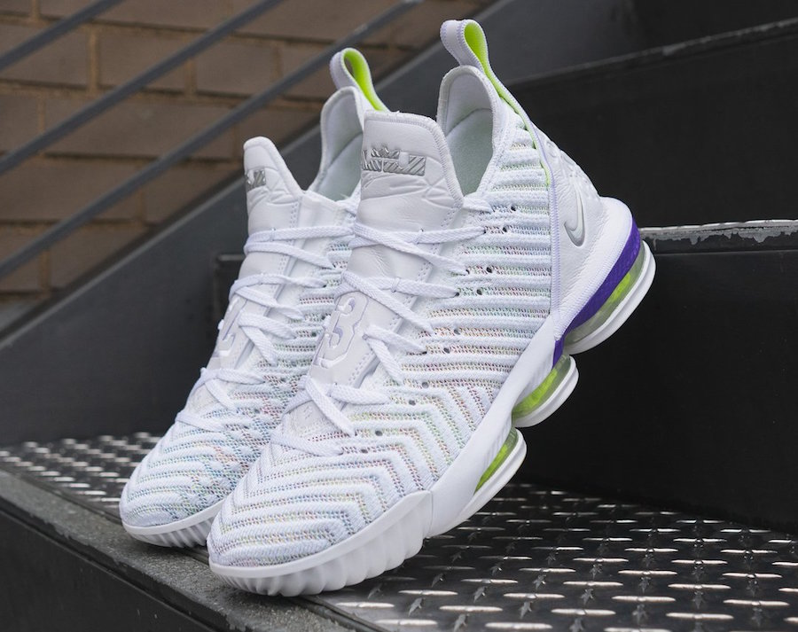 Nike LeBron 16 Buzz Lightyear White Multi-Color Hyper Grape AO2588-102 Release Date