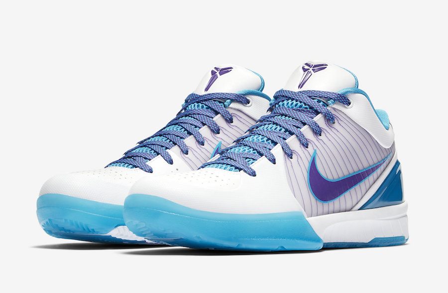 be1698f35baf Nike Kobe 4 Protro Draft Day White Orion Blue Varsity Purple AV6339 ...