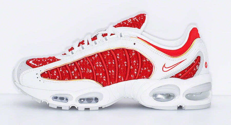 Supreme Nike Air Max Tailwind 4 IV Red White AT3854-100 Release Date