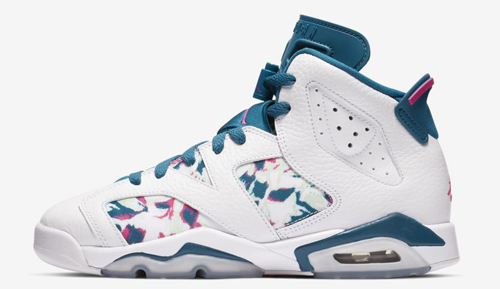 2bd8d60401c Air Jordan 6 GS Color  White Green Abyss-Laser Fuchsia Style Code   543390-153. Release Date  March 2