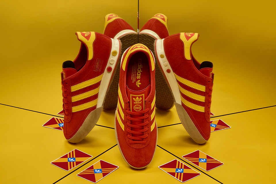 size adidas Kegler Super Red Yellow Release Date
