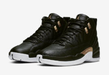 Air Jordan 12 Black Reptile Metallic Gold AO6068-007 Release Date