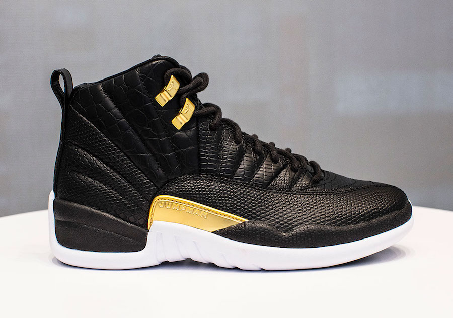 low priced a77de 822d1 Air Jordan 12 Reptile Black Metallic Gold Release Date