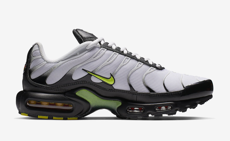 Nike Air Max Plus White Black Volt AJ2013-100 Release Date