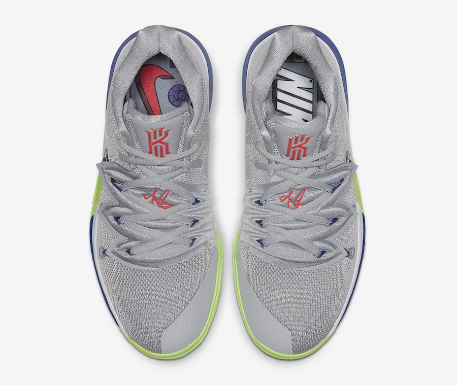 Nike Kyrie 5 Wolf Grey Lime Blast AQ2456-099 Release Date