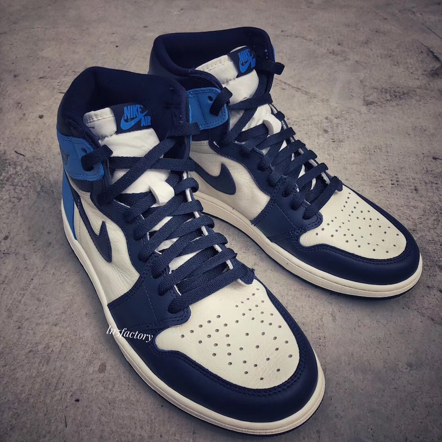 fb9225125a1a78 Air Jordan 1 High OG Obsidian University Blue 555088-140 Release Date