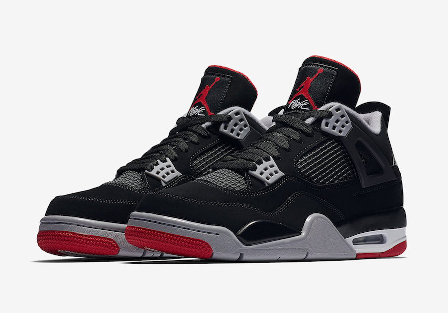 huge selection of 3896d 5d7e4 Nike Air Jordan 4 Bred 2019 Release Date - Sneaker Bar Detroit