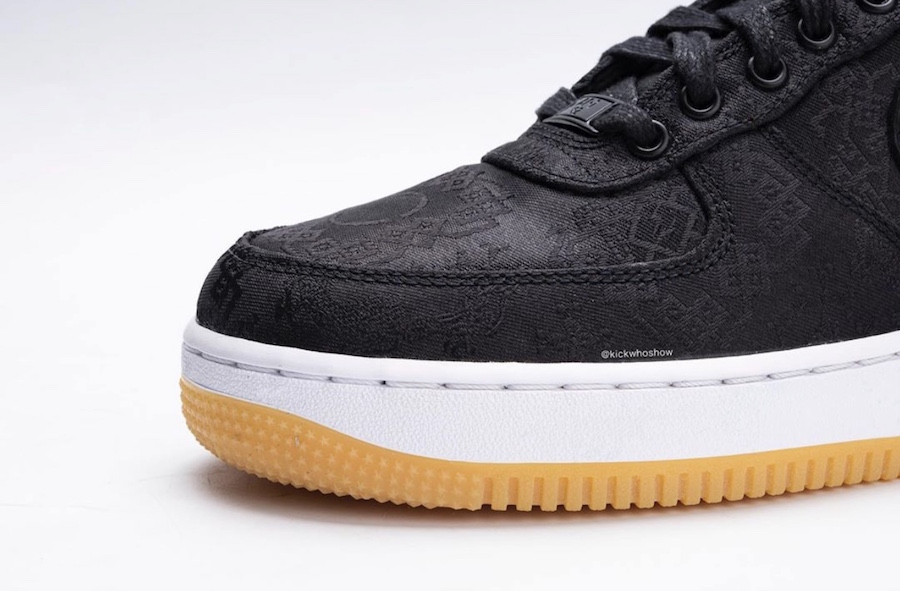 Fragment Clot Nike Air Force 1 Premium Black University Red White CZ3986-001 Release Date