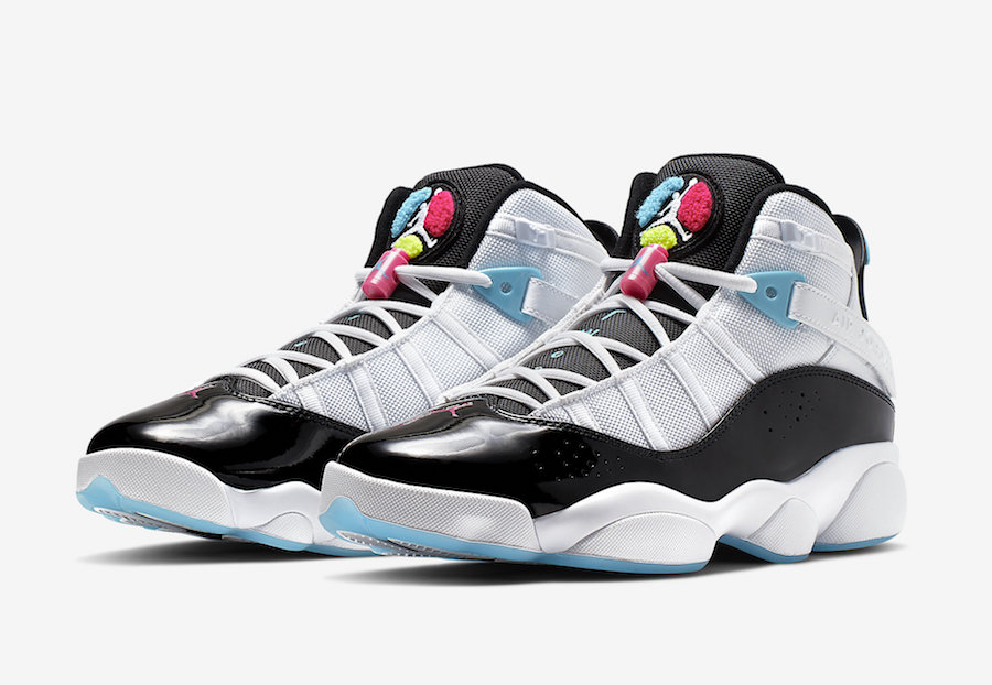 buy popular 4f48f 6d9ab Jordan 6 Rings White Hyper Pink Light Blue Fury CK0017-100 Release Date