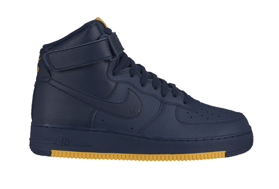 Nike Air Force 1 High Obsidian University Gold AO2440-400 Release Date