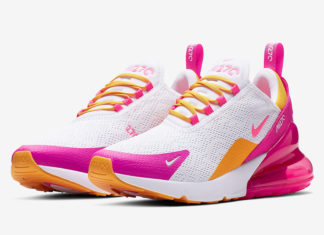 a4865937e0c Nike Air Max 270 Highlighted in Fuchsia and Gold