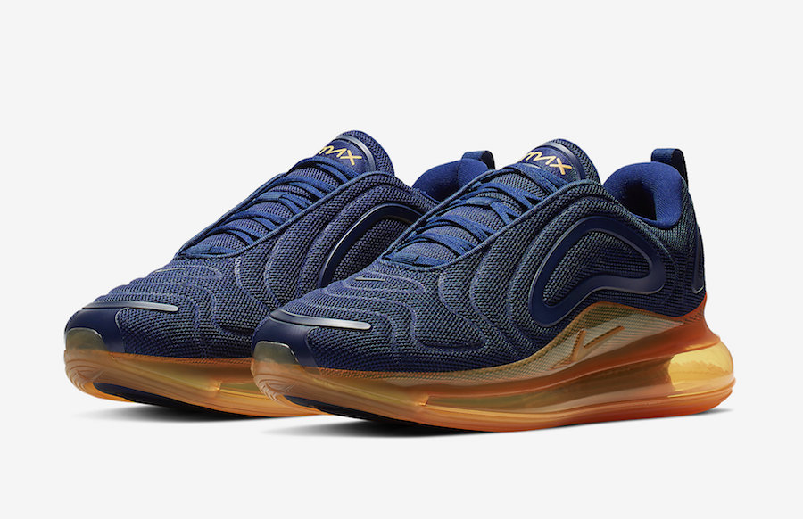 Nike Air Max 720 Midnight Navy Laser Orange AO2924-401 Release Date