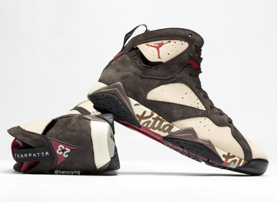 Patta Air Jordan 7 AT3375-200 Release Date
