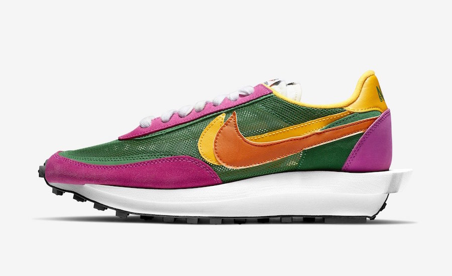 Sacai Nike LDWaffle Pine Green Clay Orange Del Sol BV0073-301 Release Date