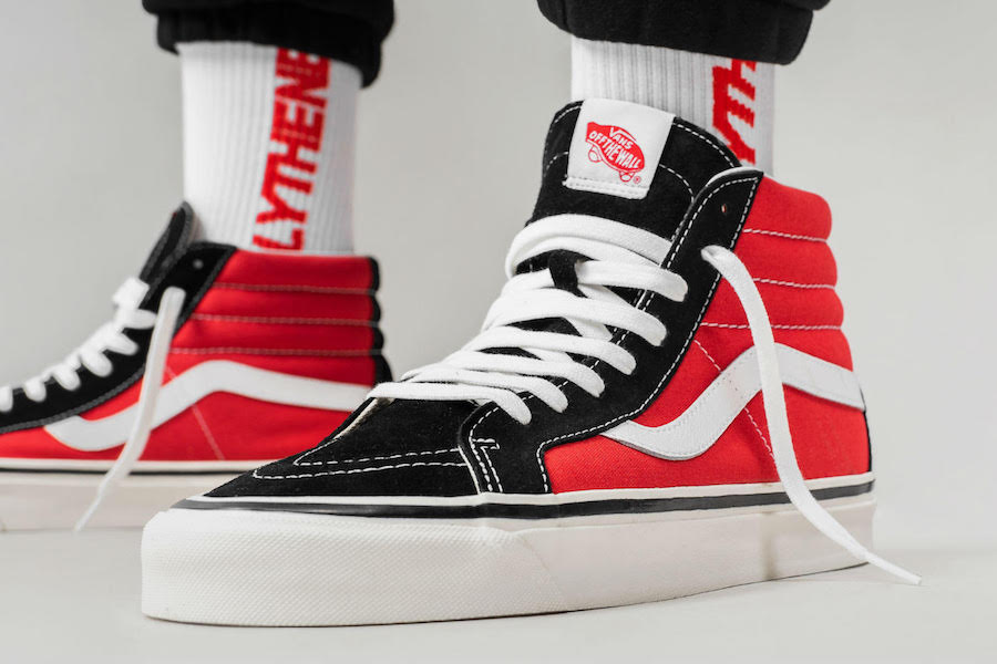Vans Sk8-Hi OG Black Red Release Date - Sneaker Bar Detroit