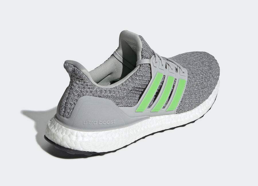adidas Ultra Boost 4.0 Grey Shock Lime F35235 Release Date