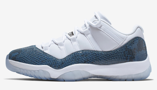 "730c786eb0b85f Air Jordan 11 Low ""Snakeskin"" Color  White Black-Navy Style Code   CD6846-102. Release Date  April 19"