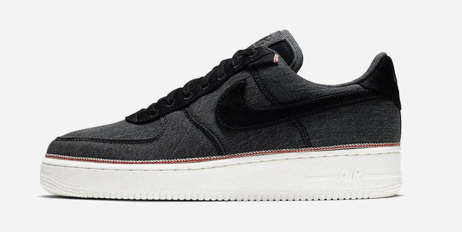 3x1 Nike Air Force 1 Black Denim 905345-006 Release Date