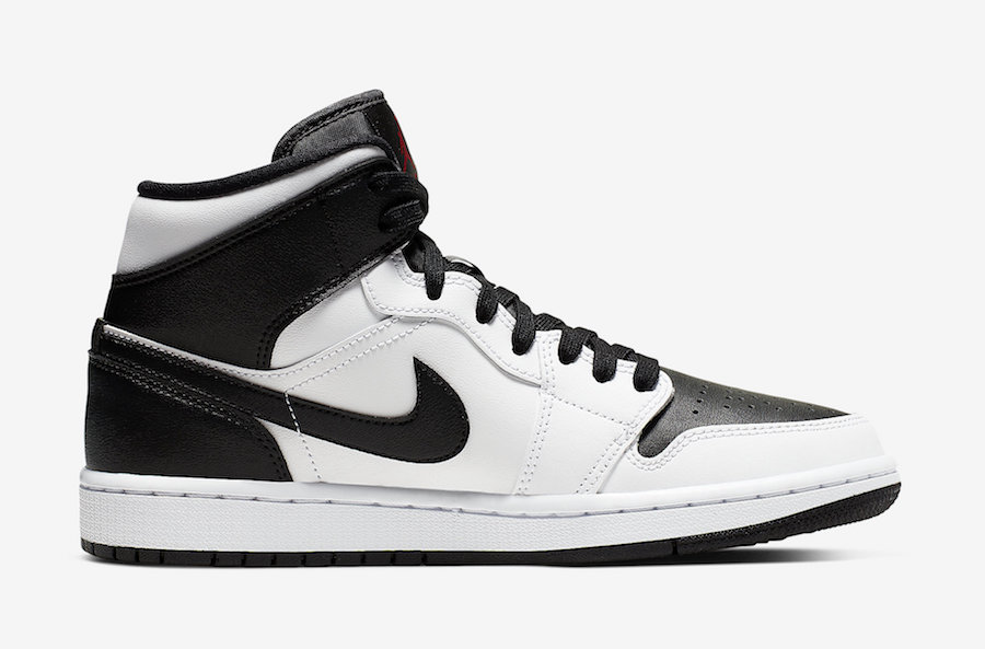 Air Jordan 1 Mid White Black Red BQ6472-101 Release Date