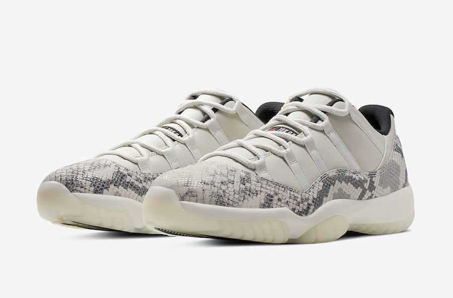 the latest f0216 511a8 Air Jordan 11 Low Light Bone Snakeskin CD6846-002 Release Date Price