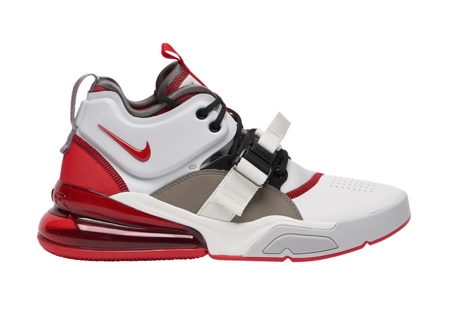 pretty nice 84a7b 76a16 Nike Air Force 270 White University Red AH6772-102 Release ...