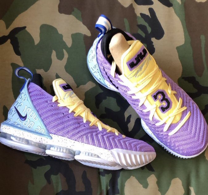Nike LeBron 16 Lakers CK4765-500 Release Date