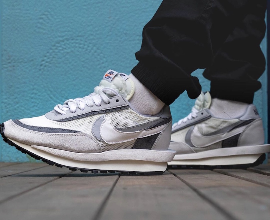Sacai Nike LDWaffle White Wolf BV0073-100 Release Date On-Feet