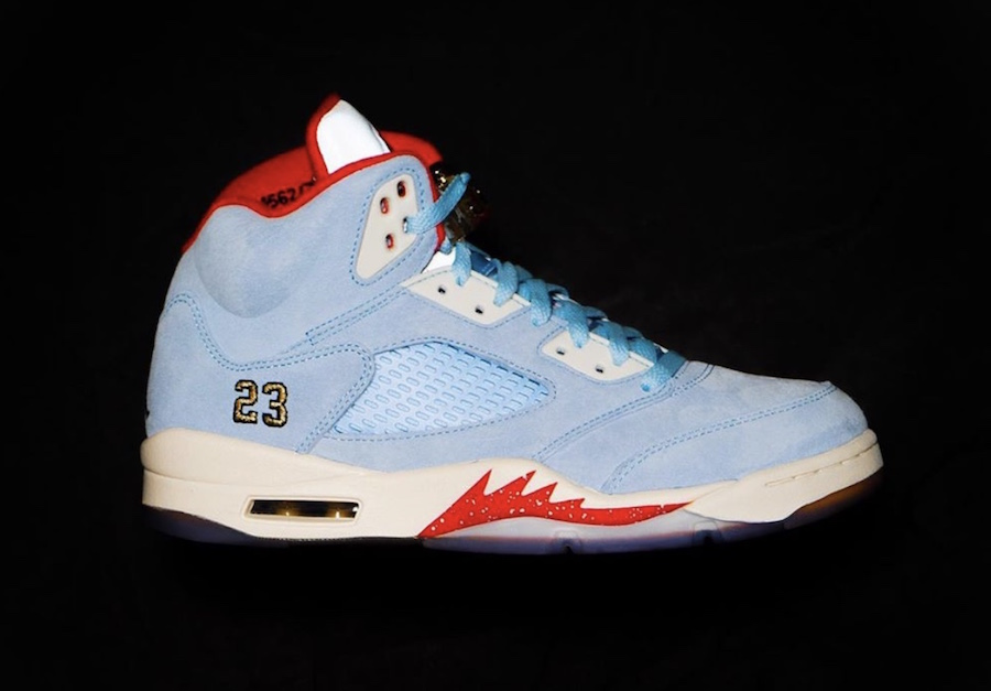 442f12aa1598a5 Trophy Room Air Jordan 5 Ice Blue University Red Release Date - SBD