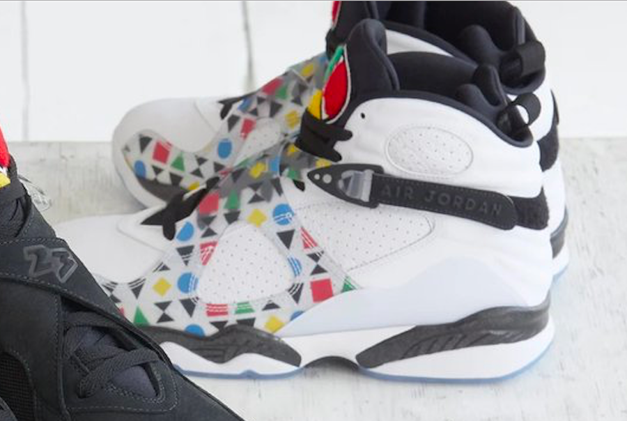 White Quai 54 Air Jordan 8