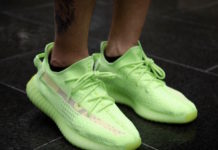 adidas Yeezy Boost 350 V2 Glow EG5293 On-Foot