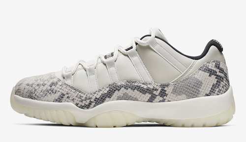 "99216a3990f96f Air Jordan 11 Low ""Snakeskin"" Color  Light Bone University Red-Sail-Black  Style Code  CD6846-002. Release Date  May 18"