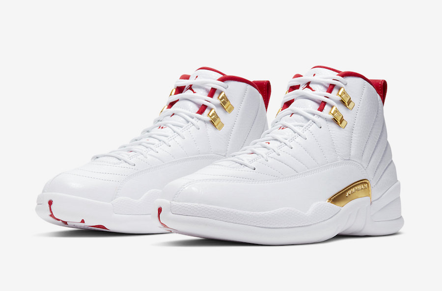 new arrival 889fc a0feb Air Jordan 12 FIBA White University Red 130690-107 Release ...