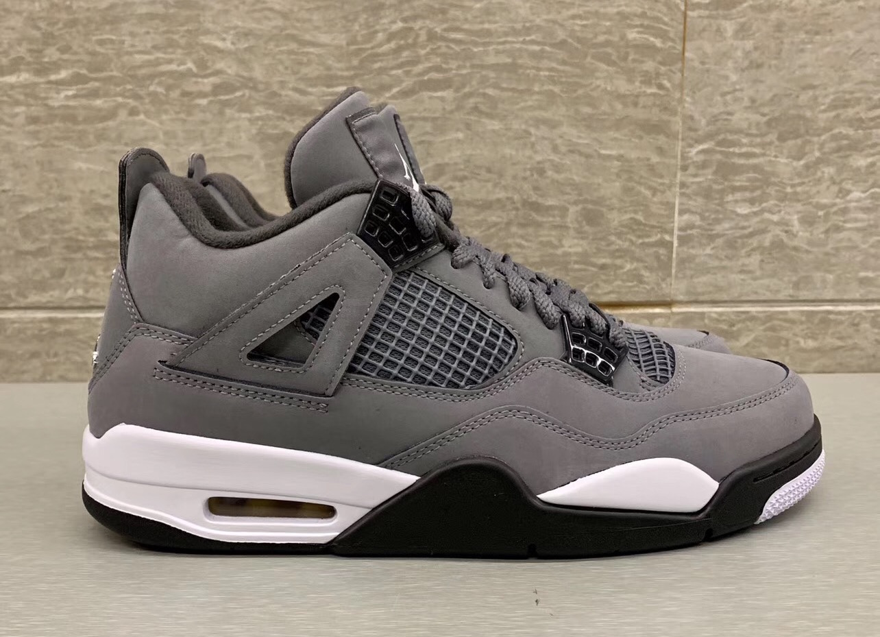 100% authentic 114ae 424e9 Air Jordan 4 Cool Grey 308497-007 2019 Release Date