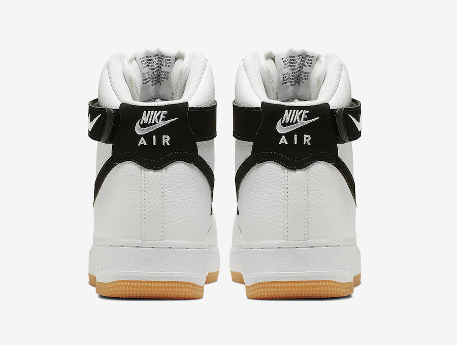 Nike Air Force 1 High White Black Gum AT7653-100 Release Date