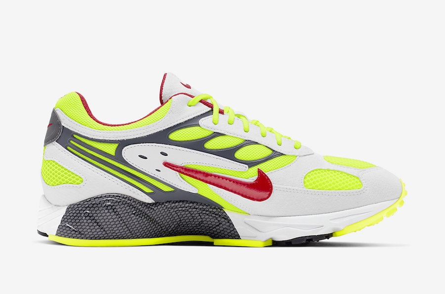 Nike Air Ghost Racer Neon Yellow Atom Red AT5410-100 Release Date