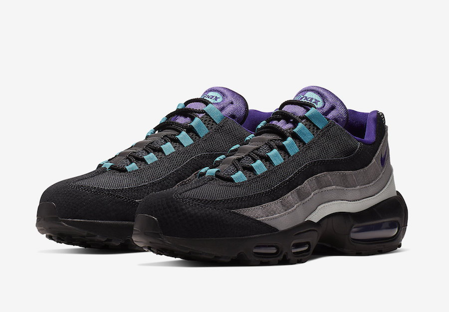 Nike Air Max 95 Black Grape Black Court Purple Teal Nebula AO2450-002 Release Date