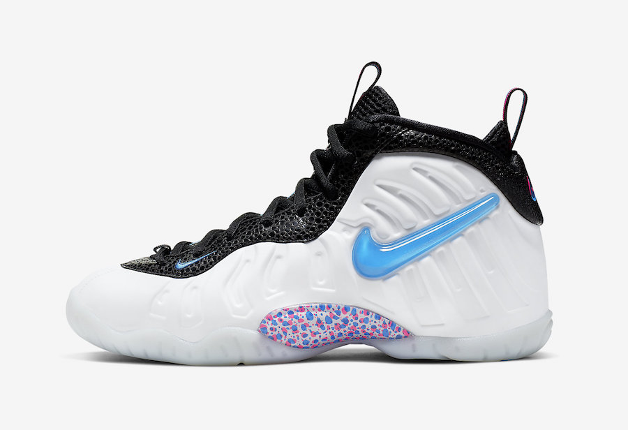 Nike Little Posite Pro 3D White Blue Hero Red Orbit 644792-102 Release Date