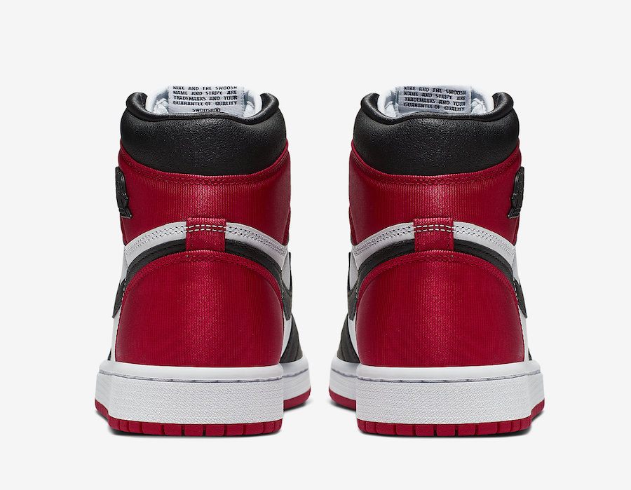 Air Jordan 1 Satin Black Toe CD0461-016 2019 Release Date