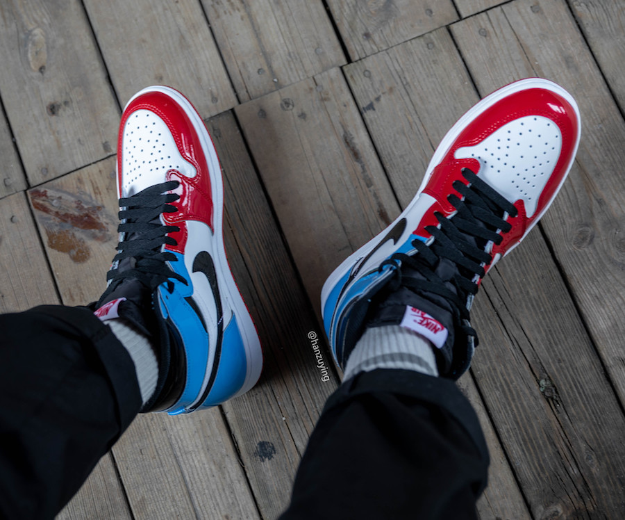 Air Jordan 1 UNC To Chicago Fearless CK5666-100 Release Date On-Feet