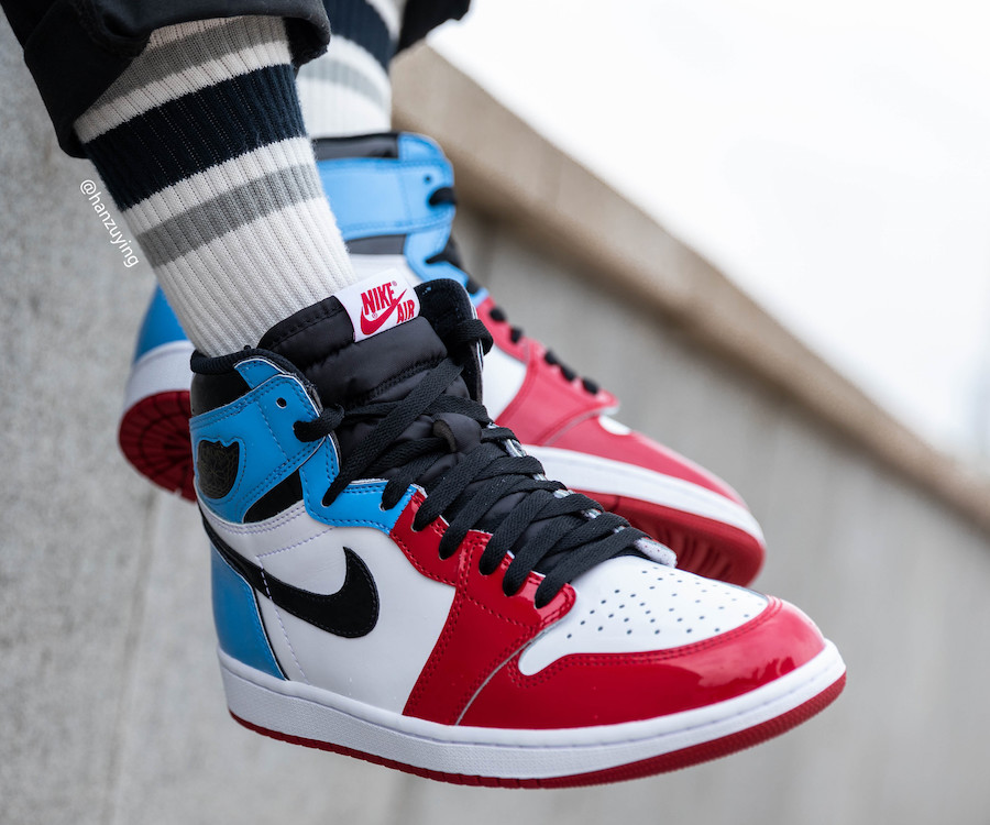 Air Jordan 1 UNC To Chicago Fearless CK5666-100 Release Date On-Foot